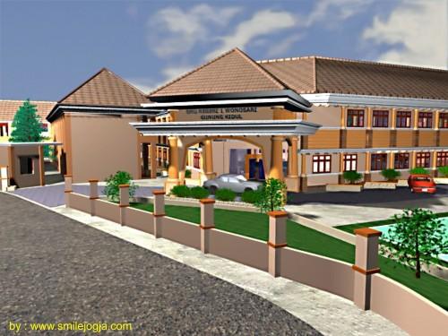 desain bangunan gedung dengan 3d max
