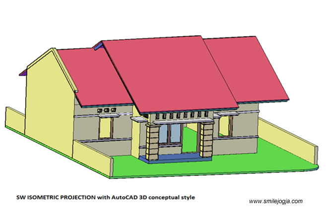 Gambar 3d autocad Proyeksi