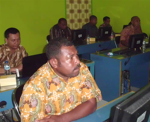 BKPLA Prov. Papua Training Web Design di Smile Group
