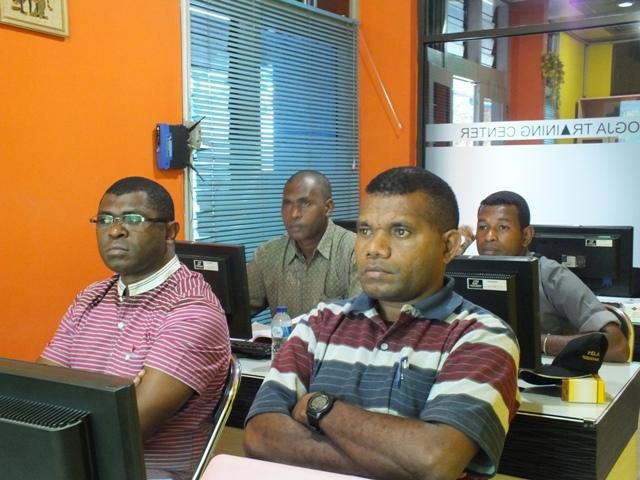 Dinas Kehutanan Kabupaten Mybrat Pelatihan GIS