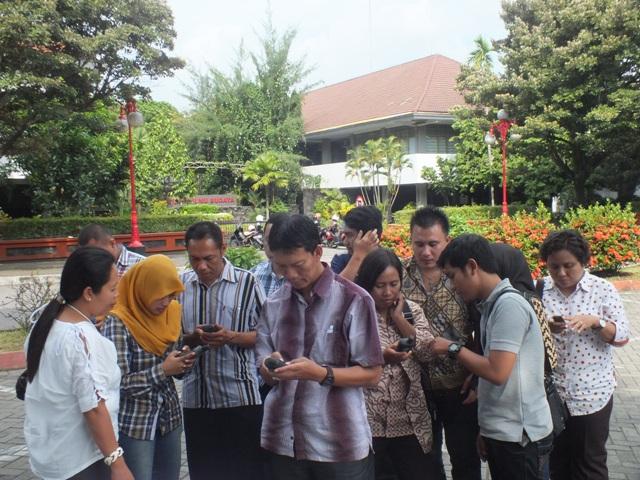 Praktik GPS dinas pertanian