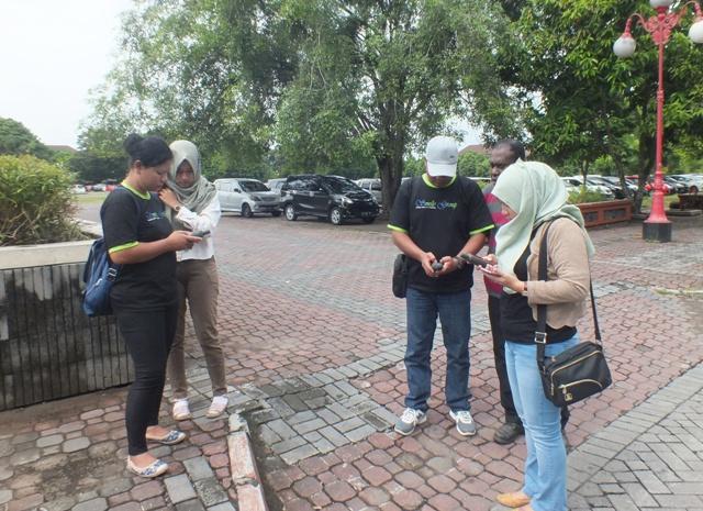 Praktik GPS - Distamben Merauke pelatihan GIS Dasar